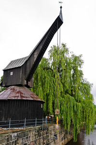Alter Kran. treadwheel crane Luneburg Germany