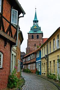 Cobble stone street Luneburg Germany