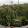 View over Russel Square to University of London Senate House and the Post Office Tower