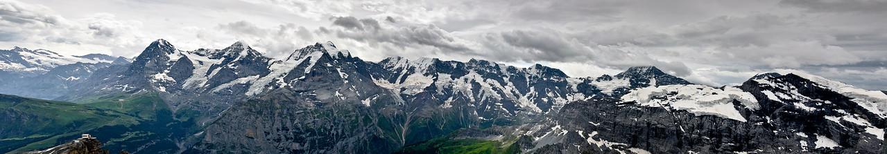 Bernese Alps from the Schilthorn Mürren Switzerland
