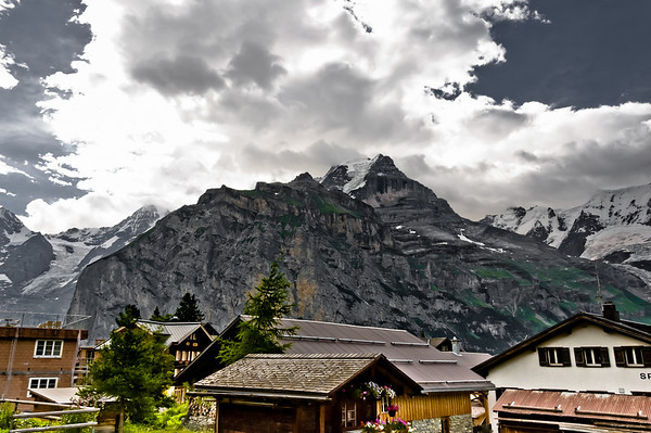 View of Bernese Alps from Murren