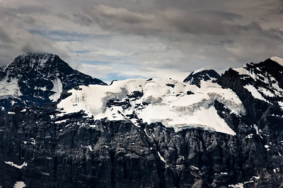 Glacier on the east side of the Jungfrau peak Bernese Alps Switzerland