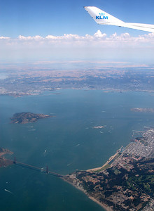 Beautiful view coming into SFO.  But sadly, the end of a great trip.