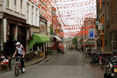 Nijmegen showing some Euro 2008 spirit.