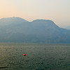 West mountains of Lake Garda from Brenzone