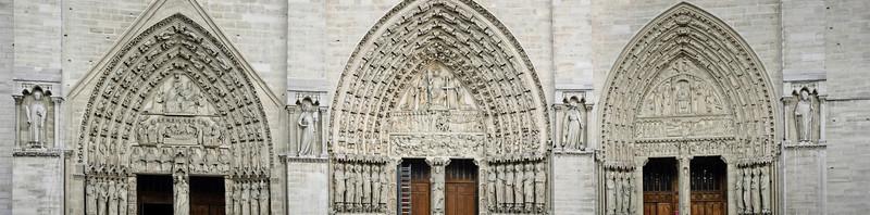 West portals Notre Dame de Paris