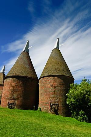Oast houses Sissinghurst Castle Kent United Kingdom