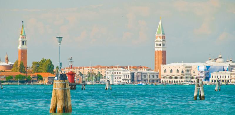 San Giorgio Maggiore & San Marco from the Lido