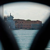 Looking out from the Bridge of Sighs to the Grand Canal & San Giorgio Maggiore