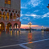Sunrise from the Piazzetta San Marco by the Doge's Palace