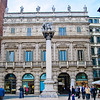 Piazza Erbe - Palazzo Maffei and the Winged Lion of St Mark