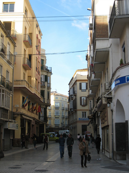 A typical street downtown