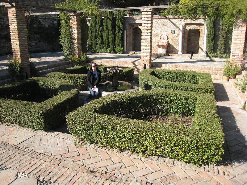 Ashli in a little garden
