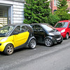 Creative parking for the super-mini Smart cars in Bodo, Norway.