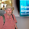 Arriving in the Brussels, Belgium after flying all night.