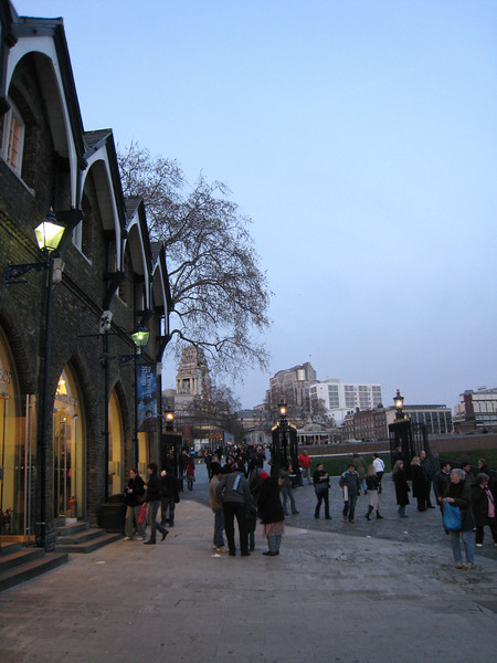 Looking up to Tower Hill, where all the executions took place