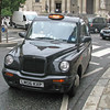 One of London's famous black cabs.