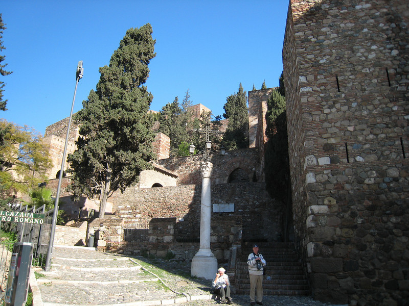 The entrance to Alcazaba and the Teatro Romano