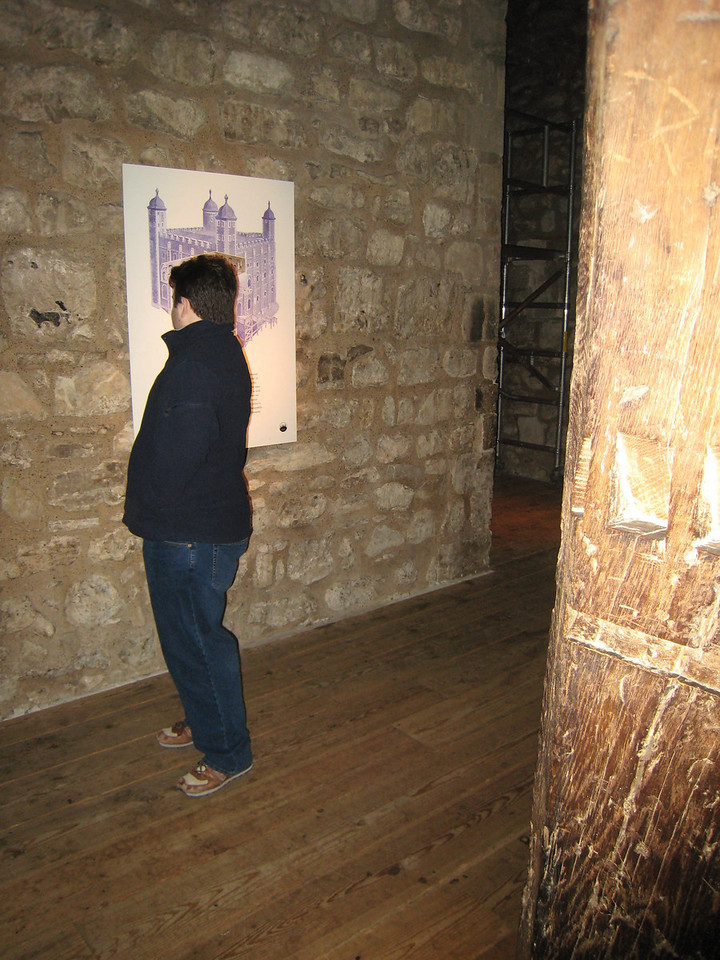 Jamie in the White Tower at the Tower of London