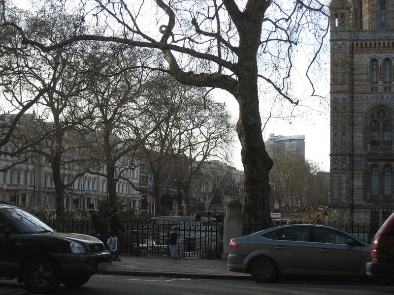 The neighborhood near the church building by Hyde Park
