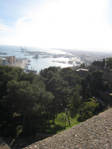 Malaga to the west