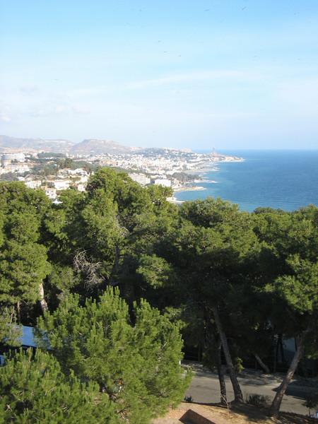 Malaga to the east