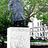 Statue of Sir Winston Churchill in London's Parliament Square.