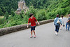 Scott attempting to walk backwards down the road to Burg Eltz. Quite impressive...no really...