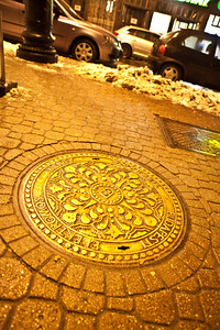 12/22 - First Night Out - The manhole covers are gorgeous here.