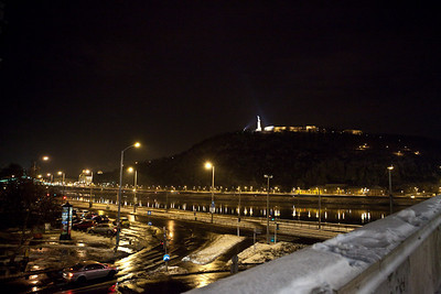 12/22 - First Night Out - Budapest liberty statue on the hill