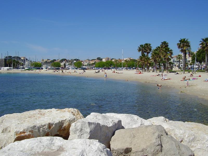 The beach in Bandol.