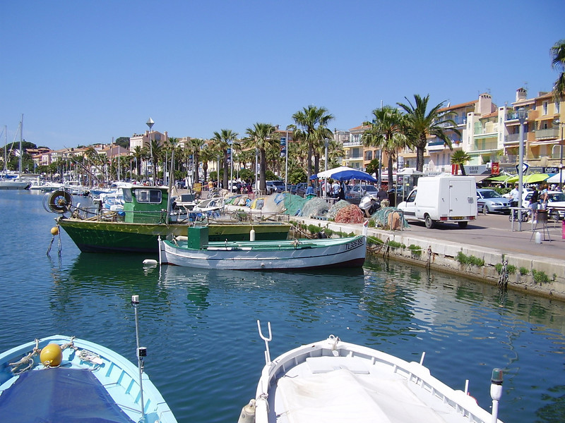The marina in the French Mediterranean town of Bandol.