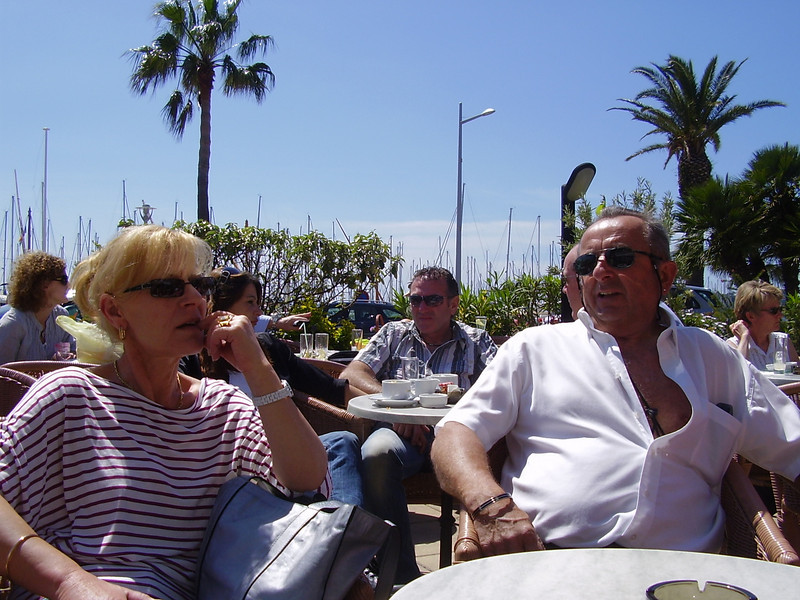 Nella and André. Lunch in Bandol.