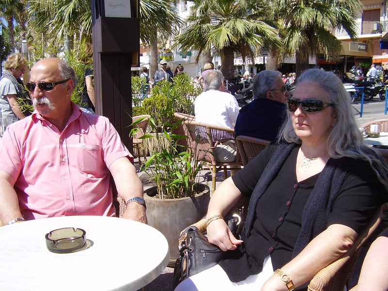 Daniel and Muriel in Bandol.