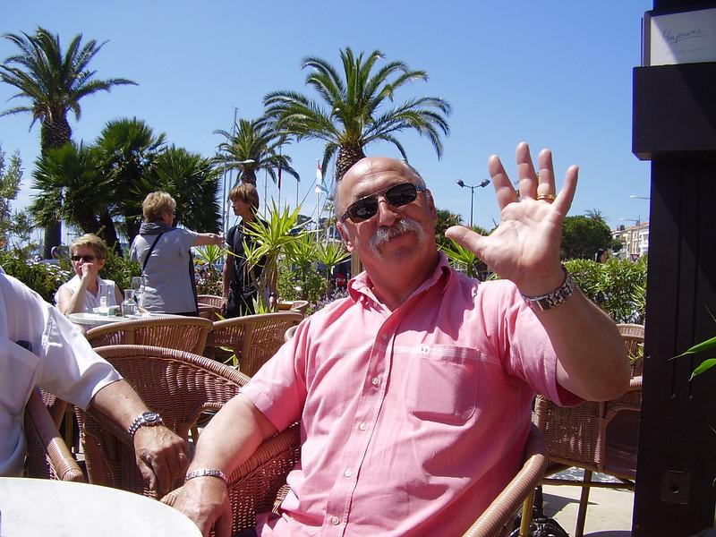 Daniel enjoying the sun of Bandol.