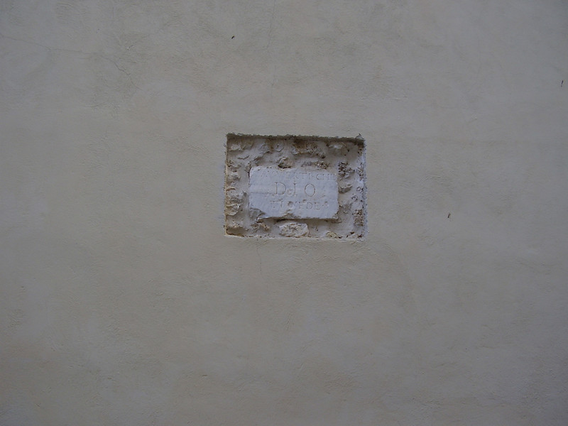 Wall detail in Castel San Vincenzo.