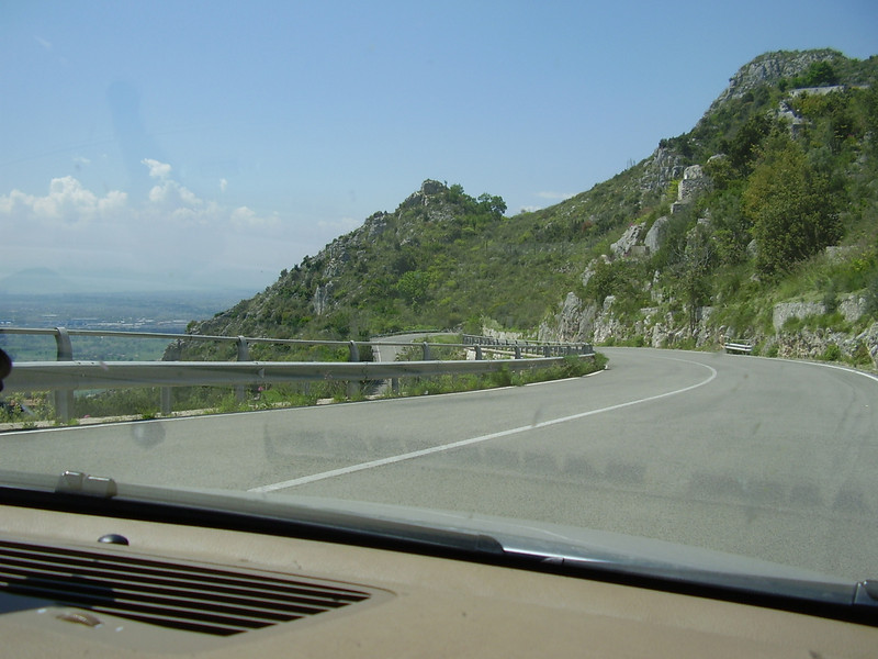 Driving down from Monte Cassino.