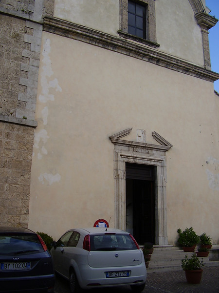 The church of San Martino, where my grandfather was baptised.