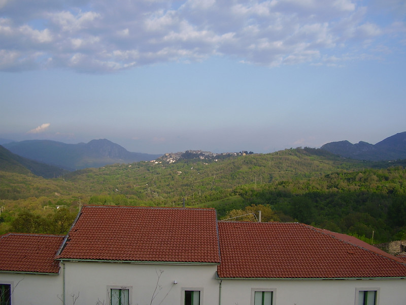 Castel San Vincenzo in the distance.
