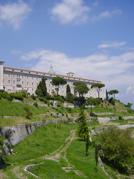 The abbey of Monte Cassino.