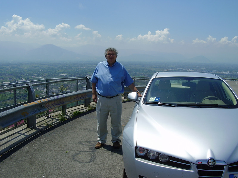Wendell on the road to Monte Cassino.