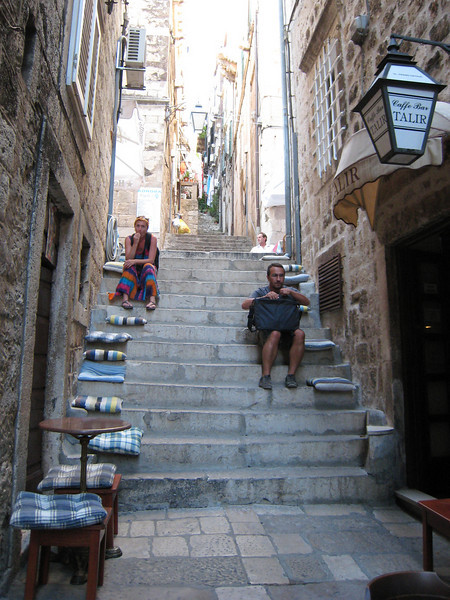Life lived on steps - Dubrovnik, Croatia