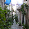Laundry strung in passage ways - Dubrovnik, Croatia