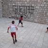 Street Soccer with Ghetto graffiti - Dubrovnik, Croatia