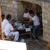 Workmen taking a meal break - Dubrovnik, Croatia