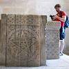 11th century baptismal font inside Jupiter's Temple (converted into a baptistry) - Split, Croatia