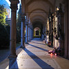 Another archway in Mirogoj at dusk