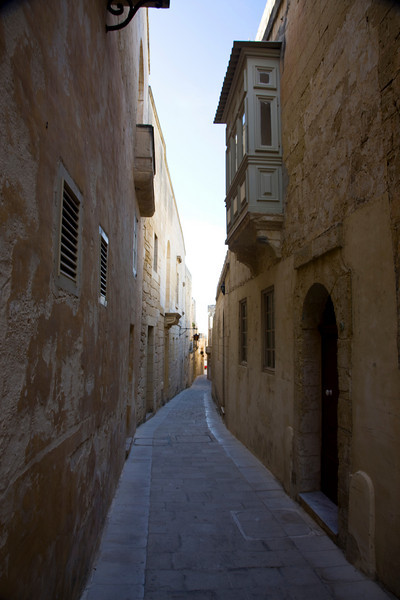 inside ancient city of Mdina Malta