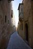 inside ancient city of Mdina Malta