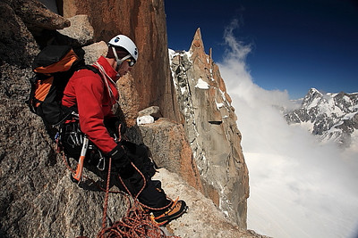 Belaying at the crux